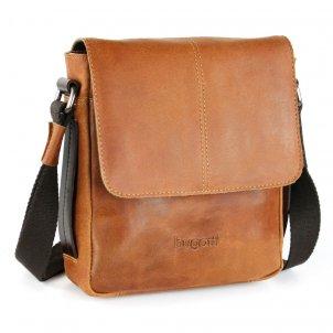 Bugatti Grinta Messenger Bag klein Farbe: cognac