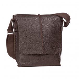 Bugatti Milano Messenger Bag medium Hochformat Farbe: braun