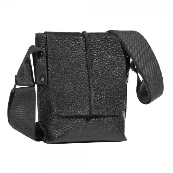 Bugatti Milano kleiner Messenger Bag Hochformat Farbe: schwarz
