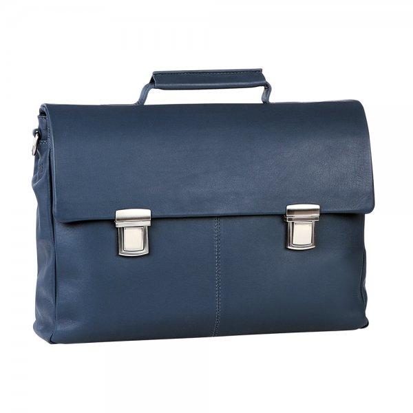 Bugatti Manhattan Aktentasche medium Farbe: blau
