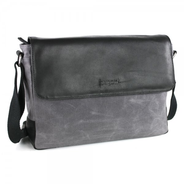 Bugatti Urbano Messenger Bag medium Farbe: anthrazit