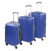 """SwissGear Basic 3er Koffer-Set bestehend aus 19"""" / 24"""" / 28"""" - 4 Rollen Koffer - Farbe: blau"""