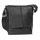 Bugatti Milano Messenger Bag medium Hochformat Farbe: schwarz